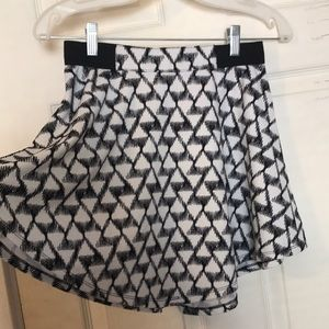 patterned circle skirt